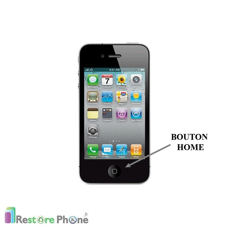 r paration bouton home iphone 4 restore phone. Black Bedroom Furniture Sets. Home Design Ideas