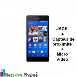 Reparation Nappe Jack + capteur de proximite + Micro video Z3