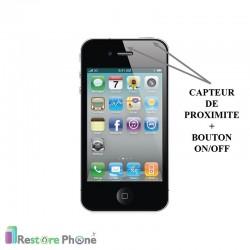Réparation Bouton On/Off + Capteur de proximité Iphone 4