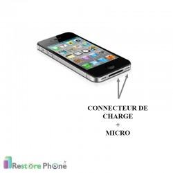 Réparation Connecteur de Charge + Micro Iphone 4S