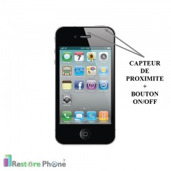 Réparation Bouton On/Off + Capteur de proximité Iphone 4S
