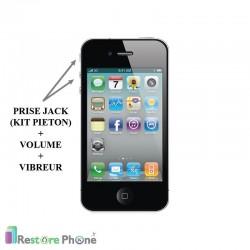 Reparation Prise Jack + Volume + Vibreur iPhone 4S