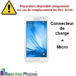 Reparation Connecteur de Charge + Micro Galaxy A3
