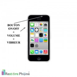 Réparation Bouton On/Off + Volume + Vibreur iPhone 5C