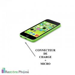 Réparation Connecteur de Charge + Micro iPhone 5C