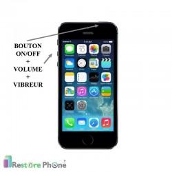 Réparation Bouton On/Off + Volume + Vibreur iPhone 5S