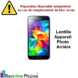 Reparation Vitre Camera Arriere Galaxy S5