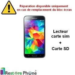 Reparation Lecteur carte sim et SD Galaxy S5 Mini