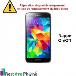 Reparation Nappe Bouton On/Off Galaxy S5