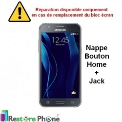 Reparation Nappe Bouton Home + Jack Galaxy J5