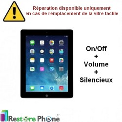 Reparation Nappe on/off + volume + silencieux iPad 3 et 4