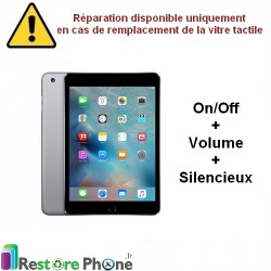 Reparation nappe bouton on/off + volume iPad mini 2 / mini 3