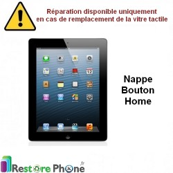 Reparation nappe bouton home iPad 4