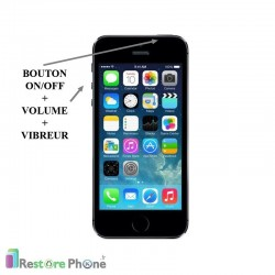 Reparation Bouton On/Off + Volume + Vibreur iPhone SE
