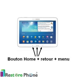 "Reparation Nappe Bouton Home + Retour + Menu Galaxy TAB 3 10"" (P5200)"