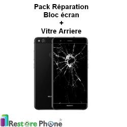 Pack Reparation Bloc Ecran + vitre arriere Huawei P10 lite