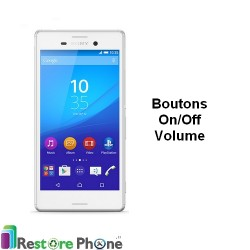 Reparation Bouton On/Off +Volume Xperia M4 Aqua (D2353)