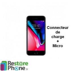 Reparation Connecteur de Charge + Micro iPhone 8 Plus