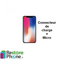 Reparation Connecteur de Charge + Micro iPhone X