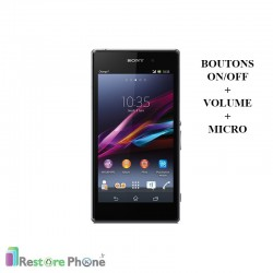 Réparations Boutons On/Off + Volume + Micro Xperia Z1 (L39H)