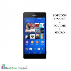 Réparations Boutons On/Off + Volume + Micro Xperia Z3 (D6603)
